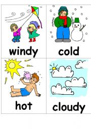 Weather Flashcards To Print - ma