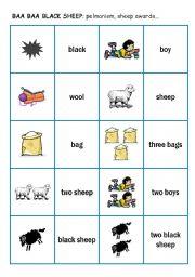 Song: Baa baa black sheep 2 - pelmanism cards