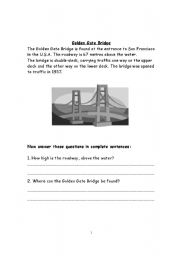 English Worksheets: Reading comprehension, testing Grammar concepts too
