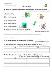 English worksheet: soft and hard c + g