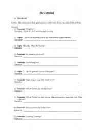 English Worksheet: �The Terminal� Worksheet