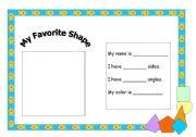 English worksheet: shape fact file