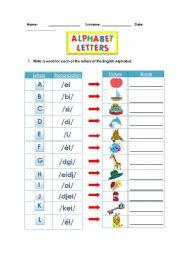 Alphabet Worksheet - ESL worksheet by isa cris