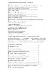 English Worksheets: intermediate worksheet