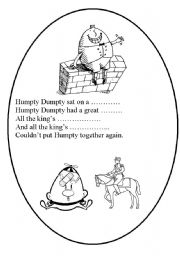 English Worksheet: HUMPTY DUMPTY