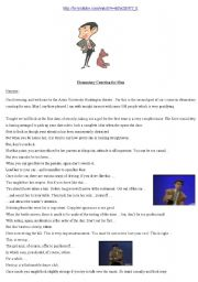 English Worksheets: Mr. Bean - Dating course