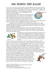 English Worksheets: THE MOOSE (fun lesson) (2/6) - BILL BRYSON TEXT and EXERCISES