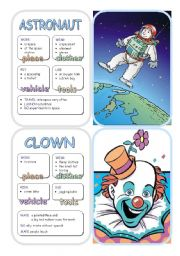 English Worksheets: Job Cards - Set 2