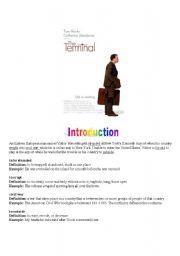 English Worksheets: Movie Trailer - The terminal (Tom Hanks)