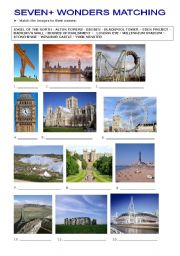 English Worksheets: SEVEN WONDERS OF BRITAIN - PART 2