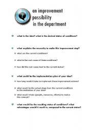 English Worksheets: departmental improvement possibilities