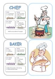 English Worksheet: Job Cards - Set 3
