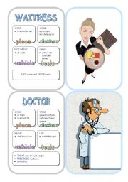 English Worksheet: Job Cards - Set 4