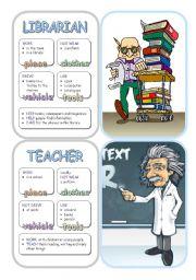English Worksheets: Job Cards - Set 5