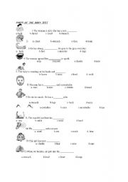 English Worksheets: parts of the body test