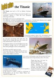 English Worksheets: English culture 9 - The Titanic