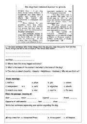 English Worksheets: Just a dog!