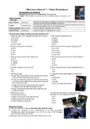 English Worksheet: Minority Report worksheet