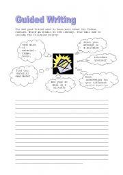 English Worksheet: guided writing Indians
