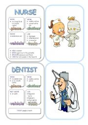 English Worksheets: Job Cards - Set 6