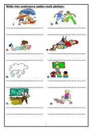 English Worksheets: descriptive writing