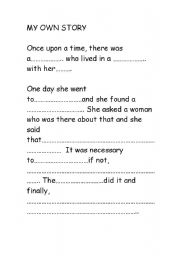 English worksheets: Make your own story