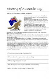 English Worksheet: Australia day