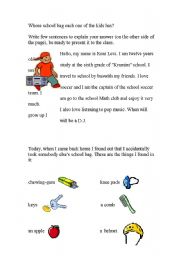 English Worksheets: Lost and Found