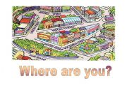 English Worksheet: Where are you?