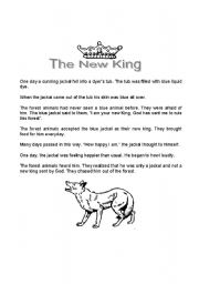 English Worksheets: A reading comprehension