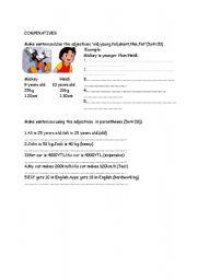 English Worksheets: COMPERATIVES