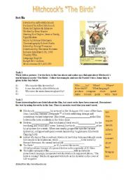 English Worksheet: The Passive Voice: Hitchcock´s
