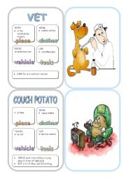 English Worksheets: Job Cards - Set 9