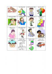 English Worksheet: Illness