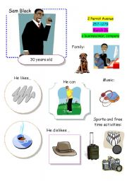 English Worksheets: Speaking Game The Town (Card 1 out of 12)