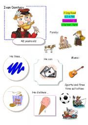 English Worksheet: Speaking Game The Town (Card 2 out of 12)
