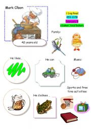 English Worksheets: Speaking Game The Town (Card 6 out of 12)