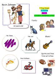 English Worksheet: Speaking Game The Town (Card 7 out of 12)