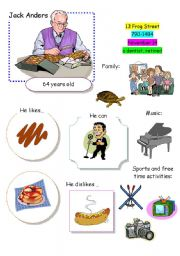 English Worksheet: Speaking Game The Town (Card 10 out of 12)