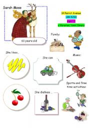 English Worksheet: Speaking Game The Town (Card 11 out of 12)