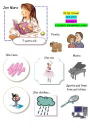 English Worksheets: Speaking Game The Town (Card 12 out of 12)