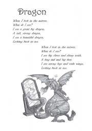 English Worksheet: Poem: Dragon