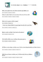 English Worksheets: Don�t be afraid