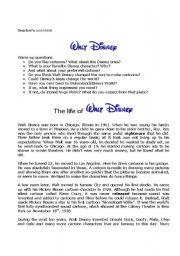 Walt Disney ´s life