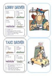 English Worksheet: Job Cards - Set 12