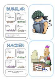 English Worksheet: Job Cards - Set 13