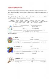 English Worksheets: HELP THE MARTIAN (PART 1 OF 3)
