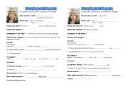 English Worksheets: pair work Johnny Depp�s biography