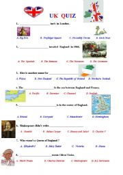 English Worksheet: How much do you know about the UK? Quiz