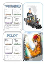 English Worksheet: Job Cards - Set 15
